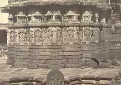 Portion of the base of the Somnath-pur Temple